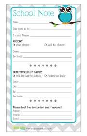 School Absence Note Template Free - April.onthemarch.co