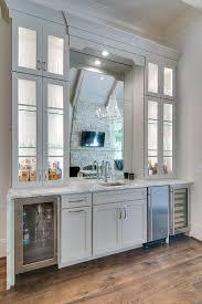 mirror over wet bar sink