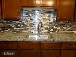 White Glass Random Strips Backsplash Tile Mosaic Kitchen