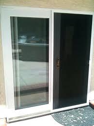 built in doggie door sliding glass door with dog door built in screen door aluminum screen