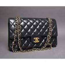 Black Quilted Lambskin Leather Double Flap Bag & Chanel Black Quilted Lambskin Leather Double Flap Bag Adamdwight.com