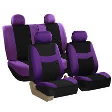 car seat covers purple full set for auto suv van w 4headrests