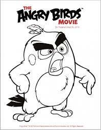 the angry birds trailer coloring pages and activity sheets