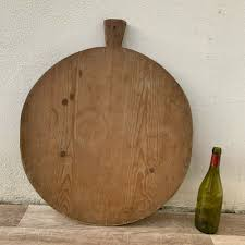 details about antique vintage french bread or chopping cutting board wood round 1902193
