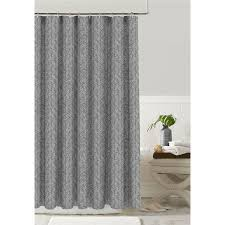 colordrift polyester silver grey patterned shower curtain