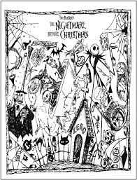 Nightmare Before Christmas Coloring Page Coloring Christmas