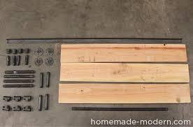 homemade modern diy pipe coffee table supplies