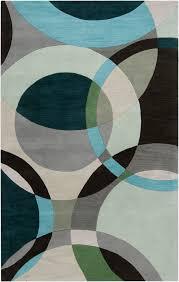 surya forum fm 7157 dark green abstract