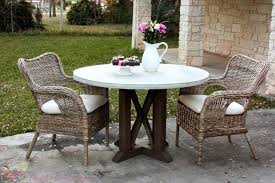 round concrete table top outdoor perth
