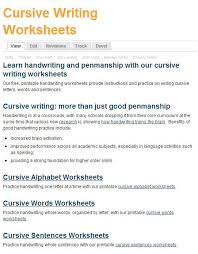 Handwriting Page Free Printing And Cursive Handwriting Worksheets