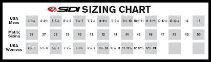 Sidi Size Chart Cycling Sidi Mtb Size Chart Bedowntowndaytona Com