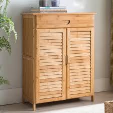 furniture shoe storage. Contemporary Shoe Cabinet With 2 Doors \u0026Drawers Bamboo Furniture Entryway\u0026Hallway Multi-function Storage M