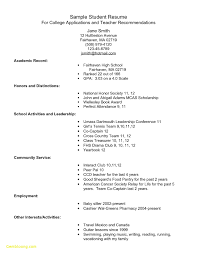 College Scholarship Resume Template Example Resume For High School