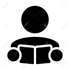 Symbol For Teacher Book Icon Vector With Male Student Or Teacher Person Profile