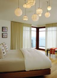 woven ball ceiling pendant shade for beach bedroom decor ideas with modern curtain and popular wall paint colors