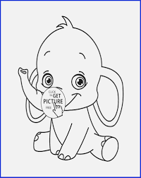 Panda Coloring Page Luxury Cute Baby Elephant Coloring Pages Flower