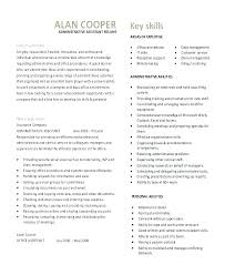 Executive Assistant Career Objective Executive Assistant Resume Professional Summary Admin Examples