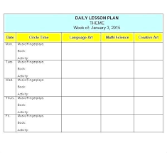 Teacher Lesson Plan Book Template Free Templates For