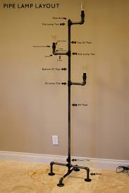 diy pipe lighting. how to make an industrial pipe floor lamp about orange diy lighting