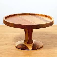 wooden cake stand rustic wood diy