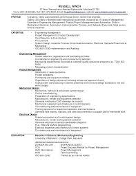 Entry Level Mechanical Engineering Resume Sample Mechanical Engineer