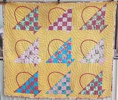 238 best BASKET quilt images on Pinterest | Kid quilts, Quilt ... & Cherry Basket Quilt - baptist fan quilting pattern Adamdwight.com