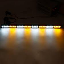 Traffic Advisor Strobe Light Bar 35inch 32 Led Warning Strobe Light Traffic Advisor Emergency Hazard Bar Amber White