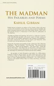 The Madman His Parables And Poems Kahlil Gibran 9780486419114