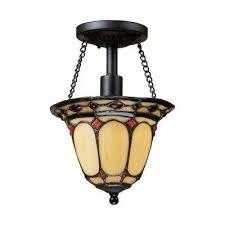 diamond ring 1 light burnished copper ceiling semi flush mount light