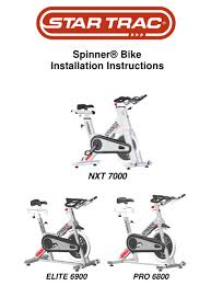 star trac spinner bike nxt 7000
