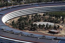 apple office. The New Apple Headquarters In Cupertino, California, As Of April. Campus, Dubbed \u0027\u0027Apple Park\u0027\u0027, Will House 12,000 Employees Over 2.8 Million Sq Ft Office A