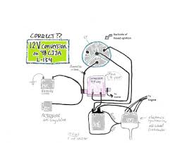 2 wire alternator diagram images no spark ignition key it run position the cj2a page forums