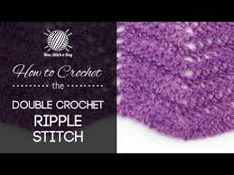Double Crochet Ripple Afghan Pattern Delectable How To Crochet The Classic Double Crochet Ripple Stitch YouTube