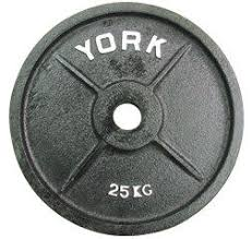 york weights. 25kg olympic weight plates (x1) york weights