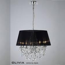 diyas uk olivia il il30056 bl polished chrome crystal eight light pendant ceiling fitting