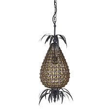 smoked glass and grey pineapple chandelier