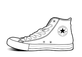 converse shoes clipart. pin drawn converse clip art #6 shoes clipart o