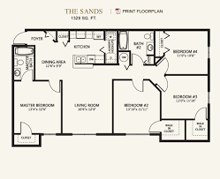 Grande Oaks  Floor Plans Bedroom   Bath sq  ft