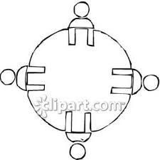 round table clipart black and white. pin table clipart round #9 black and white