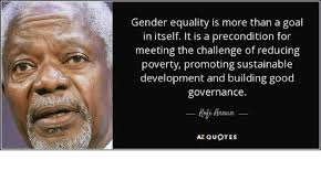 Gender Equality Quotes Magnificent Gender Equality Is More Than A Goal In Itself It Is A Precondition