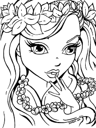 Small Picture Printable Coloring Pages Girls For Throughout Girl Es Coloring Pages