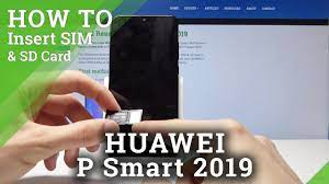 How to Install SIM and SD Cards in HUAWEI P Smart 2019 - Insert Nano SIM &  Micro SD - YouTube