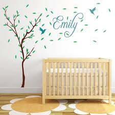 childrens tree with personalised name wall sticker on personalised baby wall art uk with products page 2 wallboss wall stickers wall art stickers uk