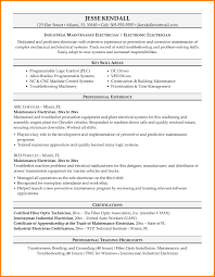 Industrial Maintenance Resume Examples Sample Resume Apprenticeship Certificate Format Best Of Ideas 17