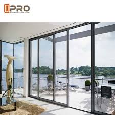 waterproof commercial sliding glass