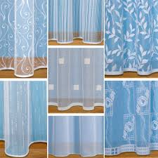 straight base net curtains with slot top sold by the metre white net voile