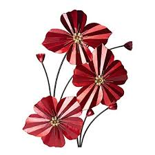 elements red poppy spray right wall d cor 20 5 inch by 30 inch on bright poppies metal wall art with elements red poppy spray right wall d cor 20 5 inch by 30 inch