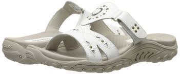 skechers womens reggae trench town slide sandal pa us white leather women s shoes sandals fantastic