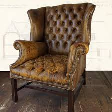 Furniture Genuine Leather Dining Chairs Wayfair Club Chairs - Tufted dining room chairs sale