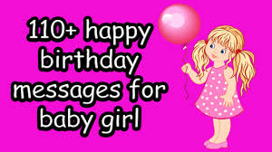 110 Happy Birthday Little Girl Message Images